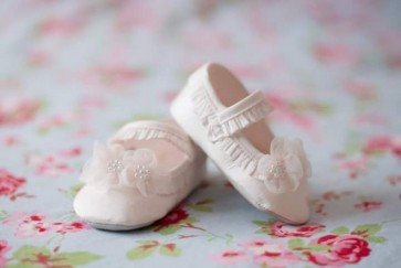 Sarah Louise 004401 Christening Pram Shoes