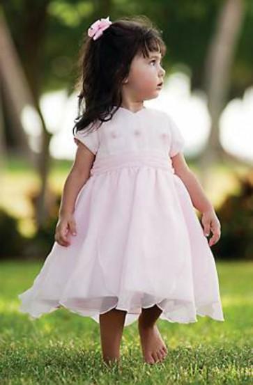 Sarah Louise Pink Petal Hem Dress 9417