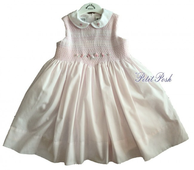 142baf2d9aee1 Sarah Louise 011495 Baby & Girls Hand Smocked Dress PINK/WHITE ...