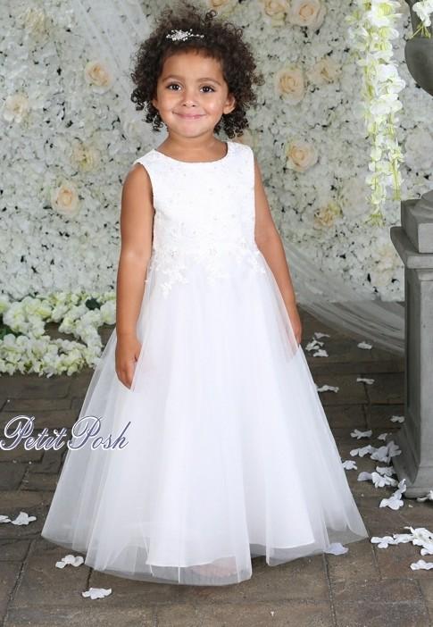 9f829afac Little People BLOSSOM Communion | Flowergirl Dress 70909 | Petit Posh
