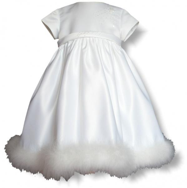 ae95b1d6fb87 Sarah Louise 070 5512 Satin & Swans-down Christening Dress HALF PRICE