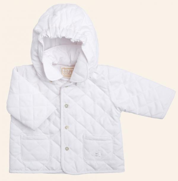 6776f0b8f Emile et Rose E9162wh ASHLEY White Quilted Jacket WHITE