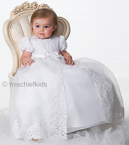 b78b5d9d7882b Sarah Louise 001165 Embroidered Divided Front Christening Gown & Bonnet Set  IVORY or WHITE