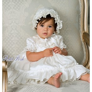 Sarah Louise Christening Dress and Pokey Bonnet Set