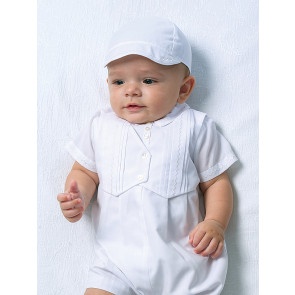 002210 Sarah Louise waitcoat romper and cap set