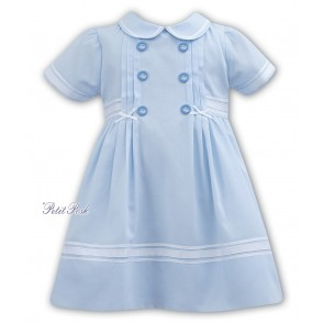 Little girls powder blue sailor dress ages 3 month to 3 years