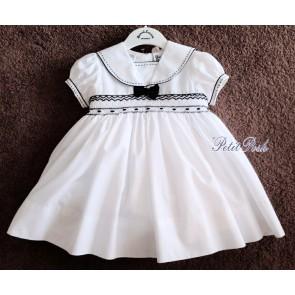 Sarah Louise 011504 Baby & Girls Smocked Sailor Dress