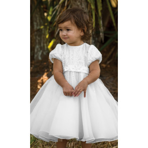070079 Sarah Louise Fern Christening Dress white