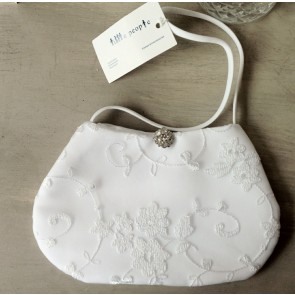 Jewel Clasp Lace Communion Bag