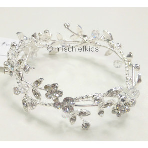 Diamante Bun Ring Communion Headdress