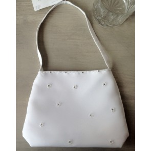White Satin communion bag 5393