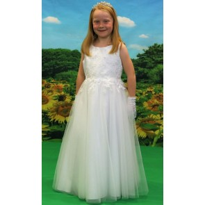Girls white full length communion dress £89.99