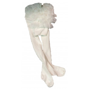 Couche Tot CT02 Baby Ruffle Tutu Tights IVORY