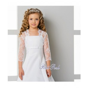 Lacey Bell CJ-29 Lace Communion Bolero Jacket
