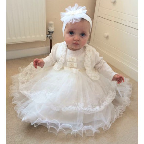 Couche Tot 123070 SALLY Tulle Dress and Headband IVORY or WHITE