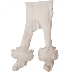Couche Tot CT3720 Baby Ankle Tutu Tights IVORY