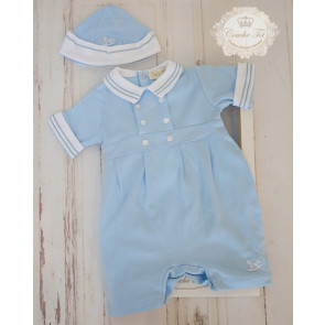 Couche Tot CT401 Sailor Baby Romper & Hat Set GIFT BOXED