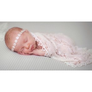Cutey Daisychain & Diamante Baby Headband