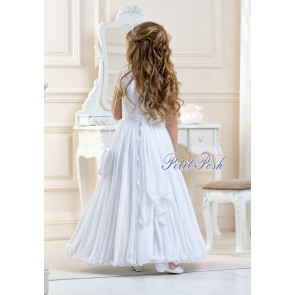 Lacey Bell CD10 LAYLAH Cotton Muslin Communion Dress - Ankle Length