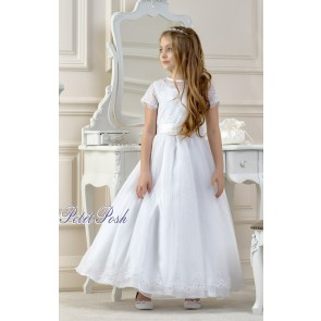Lacey Bell CD14 LYNDSEY Organza Lace Communion Dress
