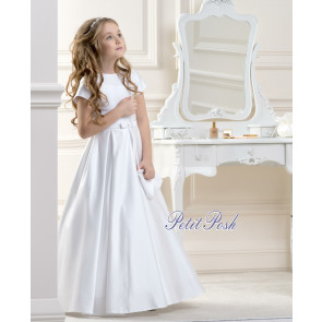 Lacey Bell CD18 LIVY Satin Communion Dress