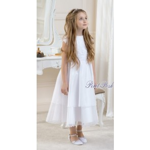 Lacey Bell Ballerina Length communion or flowergirl dress