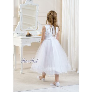 Lacey Bell Satin & Tulle communion or flowergirl dress
