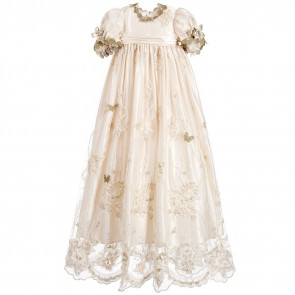 Little Darlings G5003 Charlotte Christening Gown & Bonnet