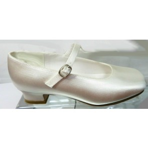 Little People HOLLY White Kitten Heel Communion Shoes