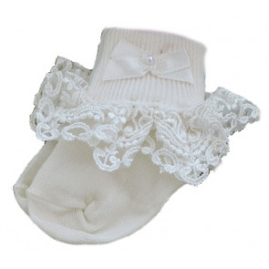 Pex Willow Lace Girls Socks Ivory
