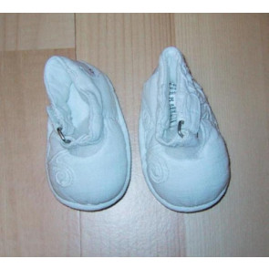 La Petite Ourse 13065   Sample Pram Shoes WHITE