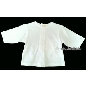 La Petite Ourse 60132 Sample White Long Sleeve Cotton Top