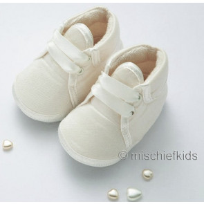 Little Darlings 2931 Silk Pram Bootee in IVORY or WHITE