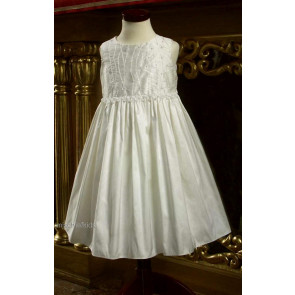 Little Darlings Scarlet D5200 Ivory Silk Christening Dress IVORY