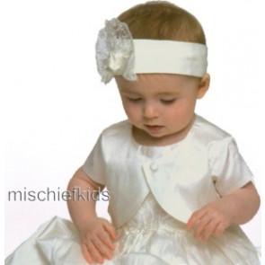 Little Darlings 5200 Scarlett Ivory Silk Bolero Jacket