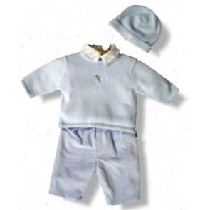 La Petite Ourse 06372 Blue Sweater CELEBRATION