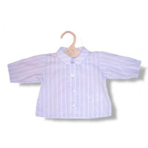 La Petite Ourse 06373 Blue Striped Cotton Shirt CELEBRATION
