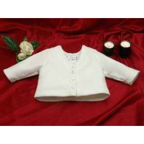 Little Darlings 6145 Unisex Ivory Polar Fleece Cardigan