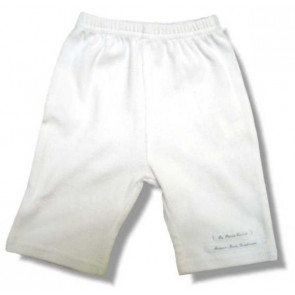 La Petite Ourse 17006 Sample White Ribbed Trouser