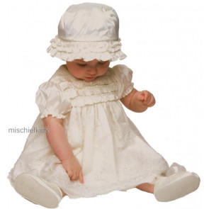 Little Darlings BS8120 Jemima Ivory Silk Christening Dress Set