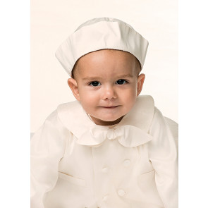 Sarah Louise 002215 Silk Christening Romper Jacket & Hat IVORY