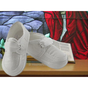 Sarah Louise 477 Loafer style Pram Shoes WHITE