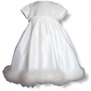 Sarah Louise 070 5512 Satin & Swans-down Christening Dress HALF PRICE