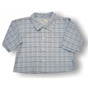 La Petite Ourse 19014 Sample  Blue Checked Shirt