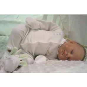 Absorba 20026 White Organic Onesie and Bootees