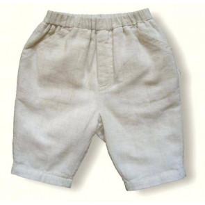 La Petite Ourse 20254 Beige Linen Trousers