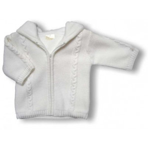 La Petite Ourse 20516 Sample  Chunky White Knit Cardi