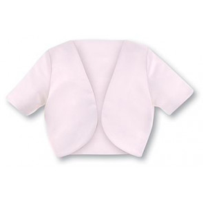 Sarah Louise 8458 8199 Pink Short Sleeved Satin Bolero Jacket