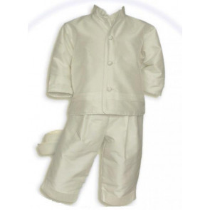 Pretty Originals D7097 Ivory Silk 4 Piece Christening Jacket Set