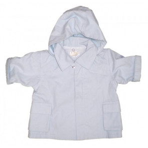 La Petite Ourse 23696 Sample  Blue Hooded Jacket